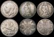 London Coins : A170 : Lot 2483 : Crowns (5) George III date worn (LIX edge, 1818 or 1819), otherwise NVG, 1821 SECUNDO VG, 1887 Near ...