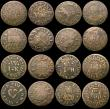 London Coins : A170 : Lot 301 : Farthings 17th Century Kent (11) Folkestone - Edward Franklin W.278 Good Fine, scratched on the reve...