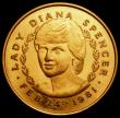 London Coins : A170 : Lot 385 : Prince Charles and Lady Diana Spencer Royal Engagement 1981 38mm diameter in 9 carat gold, 29.29 gra...