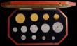 London Coins : A170 : Lot 596 : Proof Set 1902 Long Matt Set 13 coins all housed in PCGS holders as follows:- Gold Five Pounds PR62,...