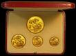 London Coins : A170 : Lot 607 : Proof Set 1937 (4 coins) in Gold comprising Gold Five Pounds, Two Pounds, Sovereign and Half Soverei...