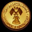 London Coins : A170 : Lot 913 : Ajman - United Arab Emirates 25 Riyals Gold undated (1971) Obverse: State emblem with denomination a...
