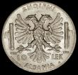 London Coins : A170 : Lot 915 : Albania 10 Lek 1939R KM#34 UNC or near so and lustrous, scarce