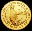London Coins : A170 : Lot 917 : Ascension Island Fifty Pence 1995 Queen Mother 95th Birthday Gold Proof KM#7b 47.54 grammes of .916 ...