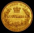 London Coins : A170 : Lot 926 : Australia Sovereign 1863 Sydney Branch Mint Marsh 368 NEF with traces of underlying lustre and some ...