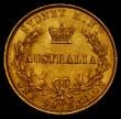 London Coins : A170 : Lot 929 : Australia Sovereign 1866 Sydney Branch Mint Marsh 371 GVF/NEF with some contact marks and small rim ...