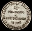 London Coins : A170 : Lot 956 : Chile Peso 1925 So Republic Proclamation, 34mm diameter in silver, Santiago Mint, Obverse Plumed arm...