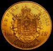 London Coins : A170 : Lot 997 : France 100 Francs Gold 1869 A, Paris Mint KM#802.1 EF, the reverse very near so, with some contact m...