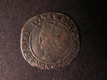 London Coins : A122 : Lot 1226 : Groat Elizabeth I Second Issue 1560-1561 S.2556 mintmark Martlet NVF/GF with some light clipping