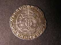 London Coins : A122 : Lot 1227 : Groat Henry VI Calais S.1836 mintmark Cross II GVF