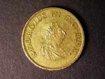 London Coins : A122 : Lot 1374 : Ireland Halfpenny 1805 Gilt Copper Proof S.6621 NEF with some contact marks
