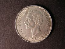 London Coins : A122 : Lot 1402 : Sarawak 20 Cents 1913H KM#10 About EF and scarce