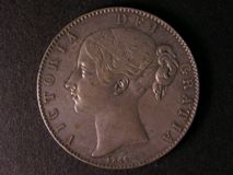 London Coins : A122 : Lot 1484 : Crown 1844 ESC 281 Cinquefoil stops on edge GVF and nicely toned