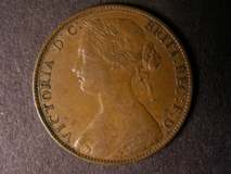 London Coins : A122 : Lot 1742 : Penny 1860 Toothed Border Freeman 16 dies 5+D with the letter Y in PENNY incomplete (almost complete...