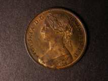 London Coins : A122 : Lot 1747 : Penny 1863 Freeman 42 dies 6+G UNC or near so with some streakiness on the reverse