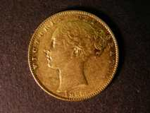 London Coins : A122 : Lot 1866 : Sovereign 1866 Marsh 51 Die Number 47 VF