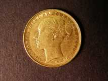 London Coins : A122 : Lot 1911 : Sovereign 1886 M Marsh 108 NVF