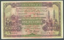 London Coins : A122 : Lot 348 : Egypt £100 dated 6th July 1942 prefix K/4, signed Nixon, Pick17d, small edge repai...