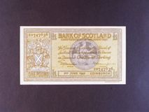 London Coins : A122 : Lot 471 : Scotland Bank of Scotland £1 dated 2nd June 1942 prefix Z first series, Pick91c, press...