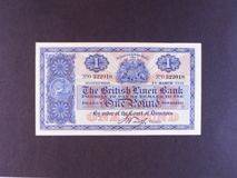 London Coins : A122 : Lot 505 : Scotland British Linen Bank £1 dated 1st March 1927 prefix O, Pick156, pressed VF