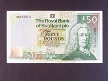London Coins : A122 : Lot 602 : Scotland Royal Bank of Scotland Plc £50 dated 14th Sept.2005 special commemorative prefix RBS&...
