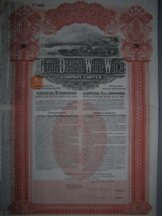 London Coins : A124 : Lot 110 : Italy, Genoa and District Water Works Co. Ltd., £20 debenture, 1913, very attr...