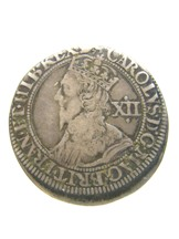 London Coins : A124 : Lot 1910 : Shilling Charles I S.2872 York 1642-1644 mintmark Lion well-struck GF/NVF with attractive tone on th...
