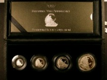 London Coins : A124 : Lot 2583 : Britannia 20th Anniversary Platinum Proof Collection 2007 a 4-coin set comprising £100 (1 ounc...