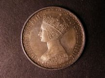 London Coins : A124 : Lot 324 : Florin 1852 ii over i. ESC 807A GVF toned