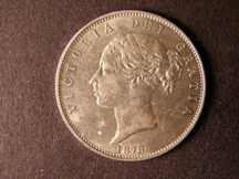 London Coins : A124 : Lot 447 : Halfcrown 1878 ESC 701 Lustrous UNC the obverse with some contact marks