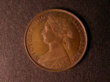 London Coins : A124 : Lot 542 : Halfpenny 1861 Copper Proof Freeman 281 dies 7+F nFDC with traces of lustre