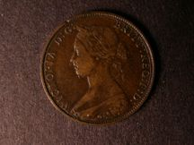 London Coins : A124 : Lot 556 : Halfpenny 1862 Die Letter B Freeman 288 dies 7+E LCW on rock (R18) Fine, very rare