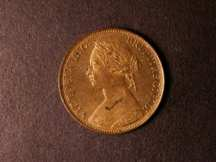London Coins : A124 : Lot 584 : Halfpenny 1875H Freeman 323 dies 13+K* Lustrous UNC with a carbon stain on the portrait