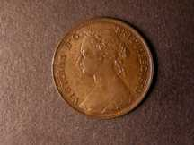 London Coins : A124 : Lot 589 : Halfpenny 1877 Freeman 330 dies 13+J AU/UNC the reverse with streaky toning