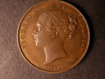 London Coins : A124 : Lot 671 : Penny 1859 Copper Proof Peck 1520 Late Mint Striking nFDC with attractive toning