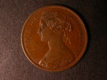 London Coins : A124 : Lot 694 : Penny 1861 Copper Proof with bronzed finish Freeman 36 dies 6+G with last 1 in date low and double-c...