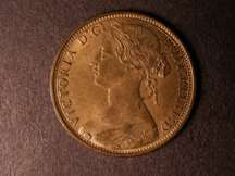 London Coins : A124 : Lot 708 : Penny 1867 Freeman 53 dies 6+G UNC with almost full, slightly subdued lustre