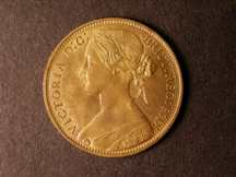 London Coins : A124 : Lot 722 : Penny 1874 Freeman 65 dies 6+G UNC with about 80% lustre