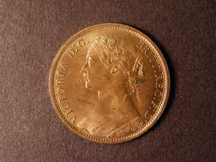 London Coins : A124 : Lot 725 : Penny 1874 Freeman 70 dies 7+G UNC with good but streaky lustre on the reverse, obverse very goo...