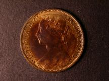 London Coins : A124 : Lot 728 : Penny 1874 Freeman 78 dies 8+H UNC the obverse with about 20% lustre, the reverse with almos...