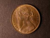 London Coins : A124 : Lot 730 : Penny 1874H Freeman 68 dies 6+H UNC nicely toned with about 20% lustre, very rare in this gr...