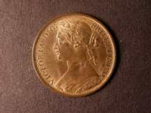 London Coins : A124 : Lot 731 : Penny 1874H Freeman 71 dies 7+G lustrous GEF with a few tone spots