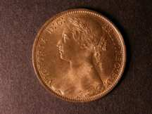 London Coins : A124 : Lot 739 : Penny 1876H Freeman 87 Wide Date dies 8+J Lustrous UNC a most pleasing example