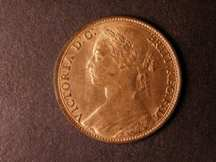 London Coins : A124 : Lot 746 : Penny 1879 Freeman 97 dies 9+J UNC a toning spot on the portrait otherwise practically full lustre
