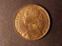 London Coins : A124 : Lot 749 : Penny 1880 Freeman 99 dies 9+J UNC with about 60% lustre