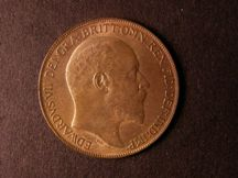 London Coins : A124 : Lot 814 : Penny 1909 Freeman 168 dies 2+D UNC with good lustre
