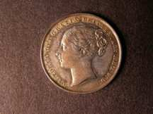 London Coins : A124 : Lot 863 : Shilling 1851 ESC 1298 EF with some toning on the portrait Rare