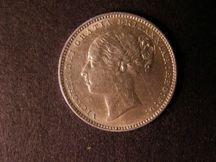 London Coins : A124 : Lot 887 : Shilling 1880 Davies 913 Dies 7C NEF with some scratches on the obverse, scarcer type for this y...