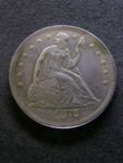 London Coins : A125 : Lot 848 : USA Dollar 1872 Breen 5490 about EF with a long thin scratch across the obverse
