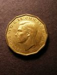London Coins : A125 : Lot 934 : Brass 3d 1948 Proof Coincraft G63DB - 130 rare lustrous GEF
